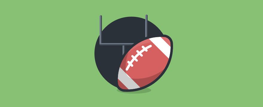 Ein Football vor einem Tor - Header-Bild für Blogbeitrag