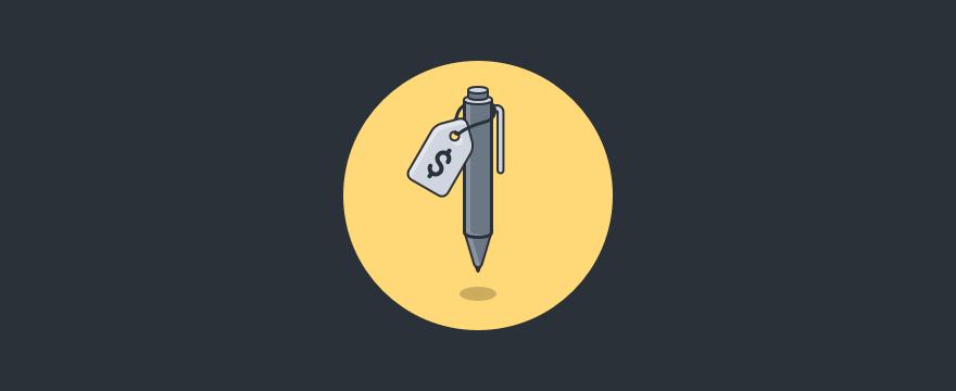 Titelbild zum Post über Verkaufsstrategien, das einen Stift zeigt.