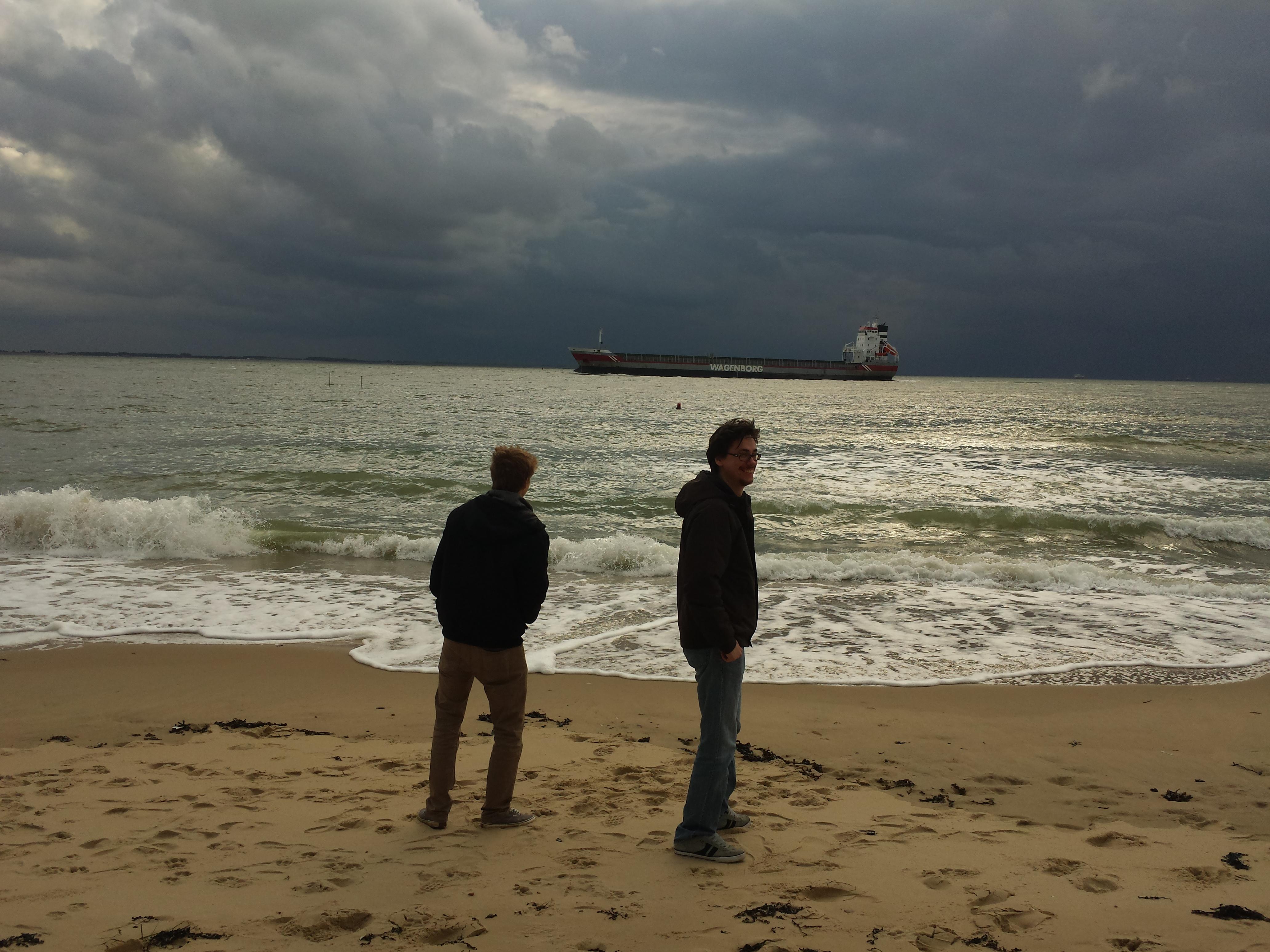 photo of the team on the beach