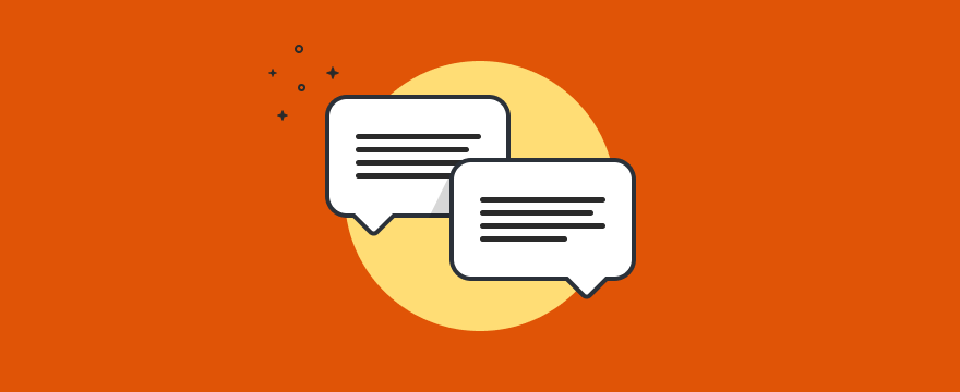 chat bubbles - header image for 10 Ways to Generate More Leads With Website Chat
