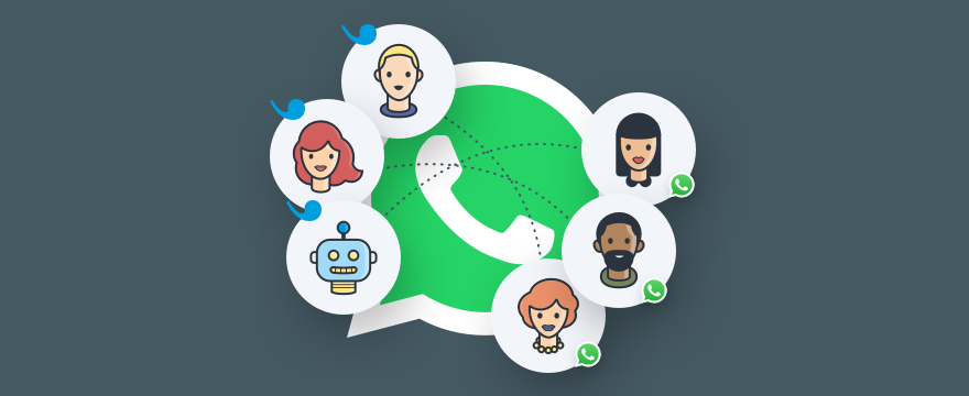 WhatsApp Logo und Userlike – WhatsApp Business