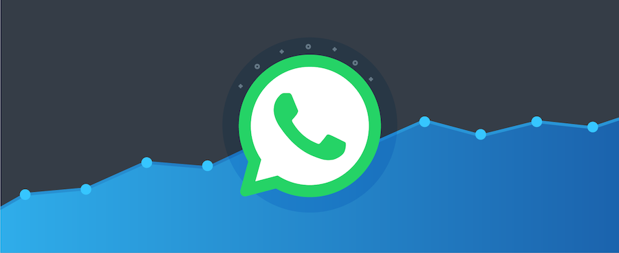 a graph showing WhatsApp's rapid growth – blog post on user statistics for WhatsApp and WhatsApp Business